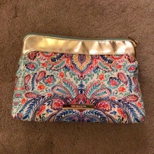 EUC paisley makeup bag